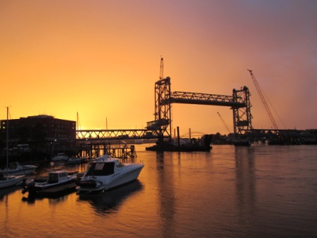 Sunset in Portsmouth, NH
